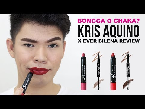 BONGGA O CHAKA?! KRIS AQUINO x EVER BILENA MAKEUP COLLECTION REVIEW (Lipstick and Brow Liner)