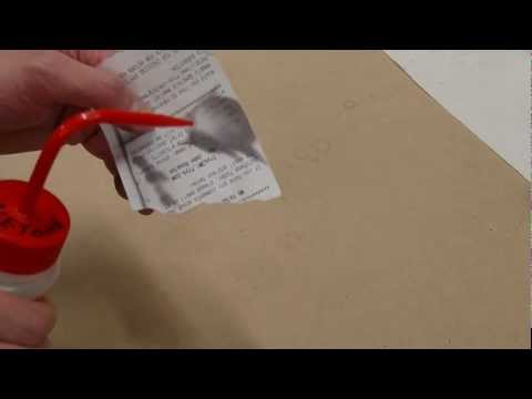 Effect of acetone vapor on thermal printer paper