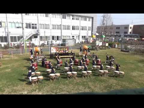 筑西市大和保育園和太鼓演奏
