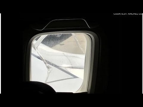 The Latest: 'No panic' on flight after window crack