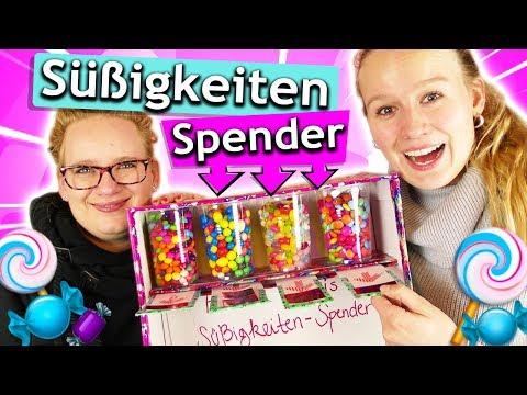 DIY SÜßIGKEITEN SPENDER selber bauen | Eva & Kathis Skittles, Smarties, M&Ms & Jelly Beans Automat