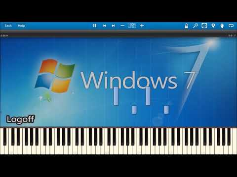 Download WINDOWS 7 SOUNDS IN SYNTHESIA Mp4 HD Video and MP3