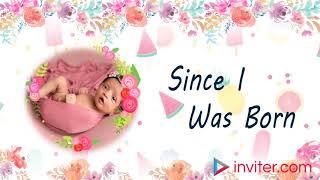 First Birthday Video Invitation | 1st Birthday Invitation Video Template - inviter.com