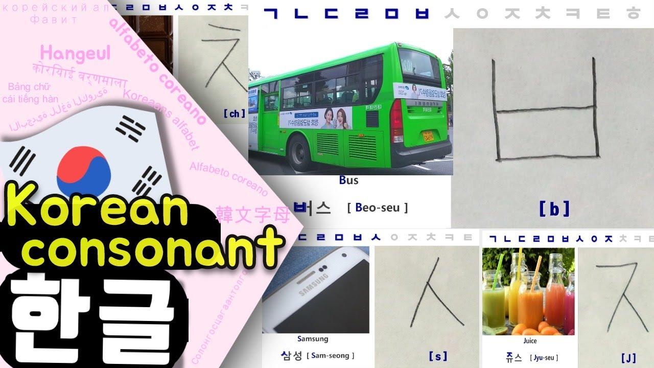 한글자음 Hangul Consonants for beginners
