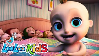 Ten in a Bed 🛏️ Fun Songs for Children | LooLoo Kids