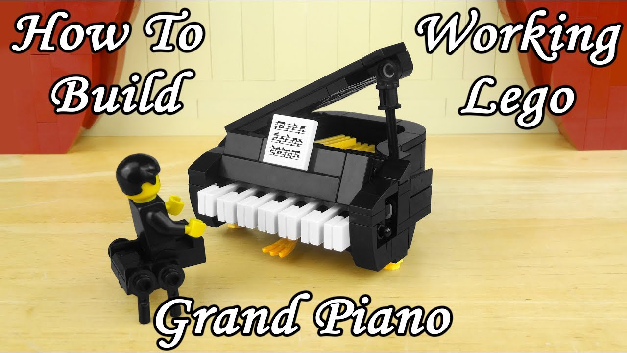 How To Build A Working Lego Grand Piano - Playable Keys!