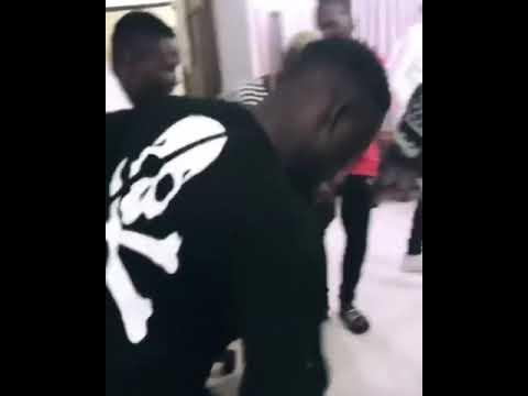 Burnaboy and Zlatan ibile doing the zanku dance - Gbenga