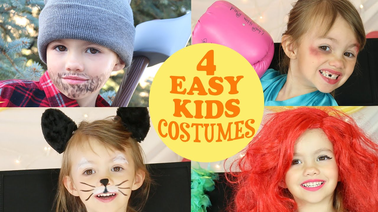 10 super easy halloween makeup tutorials for kids purewow a lumberjack a boxer ariel and a cat baditri Gallery