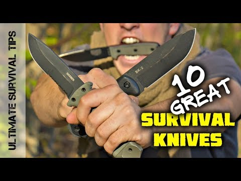 KNIFE QUEST: Top 10 Survival Knives – Mora / Gerber / ESEE / TOPS / Ka-Bar  – Best Blades