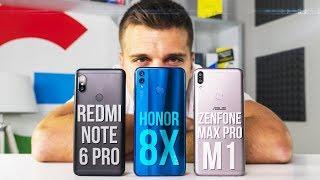 Какой смартфон выбрать: Xiaomi Redmi Note 6 Pro, Honor 8X или Asus Zenfone Max Pro m1?