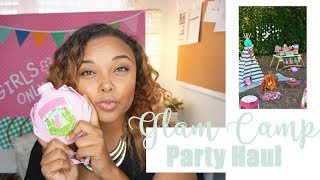 "Girls Birthday Party Ideas- ""Glam Camping"" -Event Planner Haul- (Oriental Trading)"