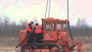 ми-26 тащит трактор