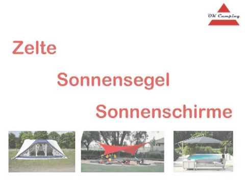 OK Camping Onlineversand - Wohnwagenvorzelte Sonnenschutz Zelte