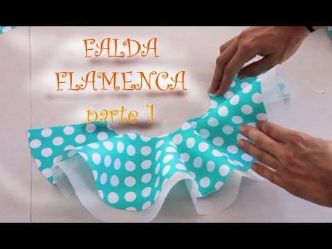 1. FALDA FLAMENCA niña - PATRONES