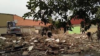 Pembongkaran Gedung Kementrian Perhutani 1 Jakarta Selatan