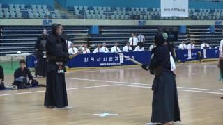 제30회 사회인검도대회 중년부 단체전 동구검도관: 평내검도관 결승전