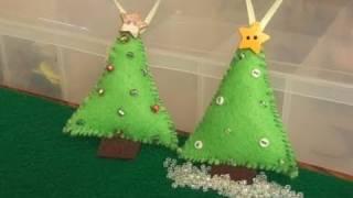 DIY: Felt Christmas Tree Ornament.   CHRISTMAS DIYs! By SoCraftastic