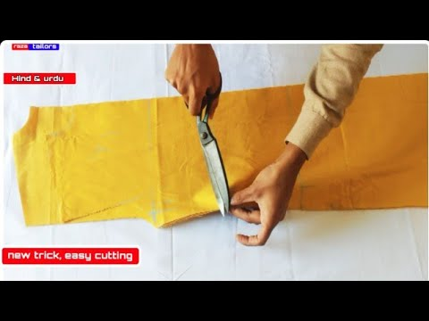 Kurta/kameez Cutting Very Easy Method Step By Step/kurta Cutting Hindi &urdu