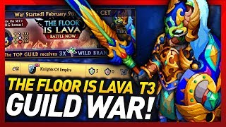 Knights and Dragons - TOP 3 THE FLOOR IS LAVA Guild War!! Wave Barrier+ EARTH/FIRE SF+!