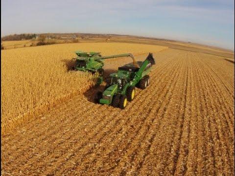 2014 North Dakota Corn Harvest Aerial Video (long version)