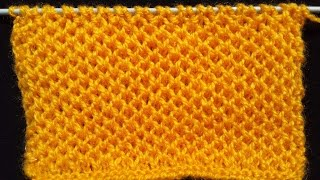 53- Honeycomb Stitch - Knitting Pattern | HINDI