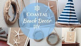Coastal Beach Decor DIY |  Nautical Decor