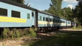 preview picture of video 'Great Lakes Central Passenger train at Howell'