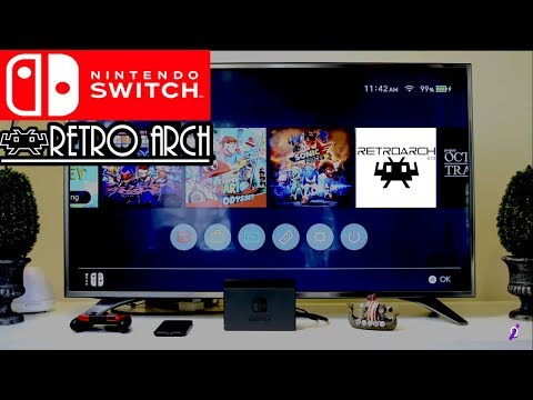 HOW TO INSTALL RetroArch 1 7 5 for NINTENDO SWITCH (  NSP &  NRO