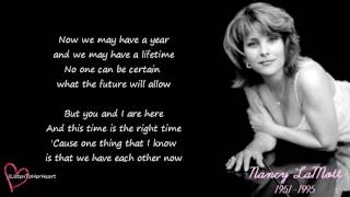 Nancy LaMott - We Live On Borrowed Time