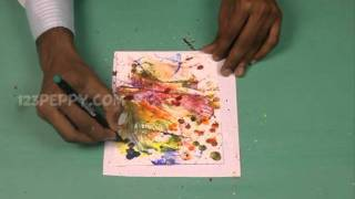 How to Make a Thread Art Greeting Card - YouTube