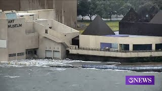 Art Museum Of South Texas Flooding Due To Storm Surge