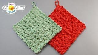 A Pretty Simple Dishcloth - Crochet Quick Fix - Pattern & Tutorial