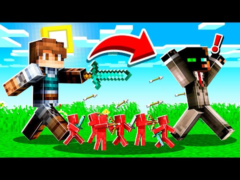 PLAYING with a TINY SOLDIER ARMY in Minecraft!