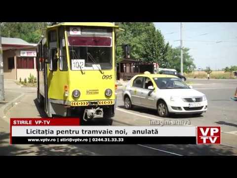 Licitația pentru tramvaie noi,  anulată