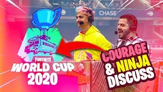 FORTNITE WORLD CUP 2020?! - NINJA AND COURAGE DISCUSS! (Fortnite: Battle Royale)