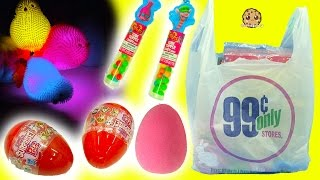 99 Cents Store Haul - Shopkins, Surprise Blind Bag Eggs, Squishy Chicks + More