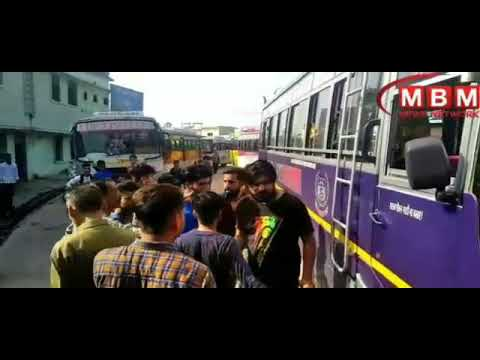 Private bus operator being beatean at Bilaspr in Himachal
