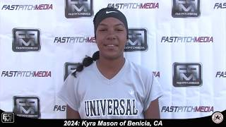 2024 Kyra Mason Slapper, Outfield and Shortstop Softball Skills Video - Universal Fastpitch