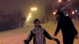 preview picture of video 'Dance In snowfall in Abhar City'