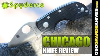 Spyderco Chicago C130GP Knife (Street Legal Mini) | OsoGrandeKnives