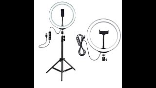 HOW TO ASSEMBLE  INSTALL RING LIGHT ON TRIPOD STAND WITH PHONE HOLDER