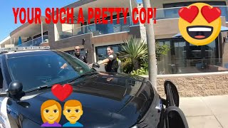 Hitting on a chick cop 👮♀️😱