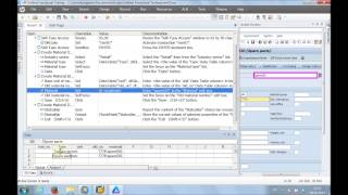 Unified Functional testing - SAP GUI test automation example (transaction mm01)