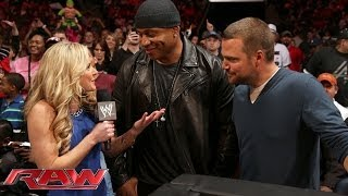 COD & LL cool J -WWE -raw - Renée Young interview