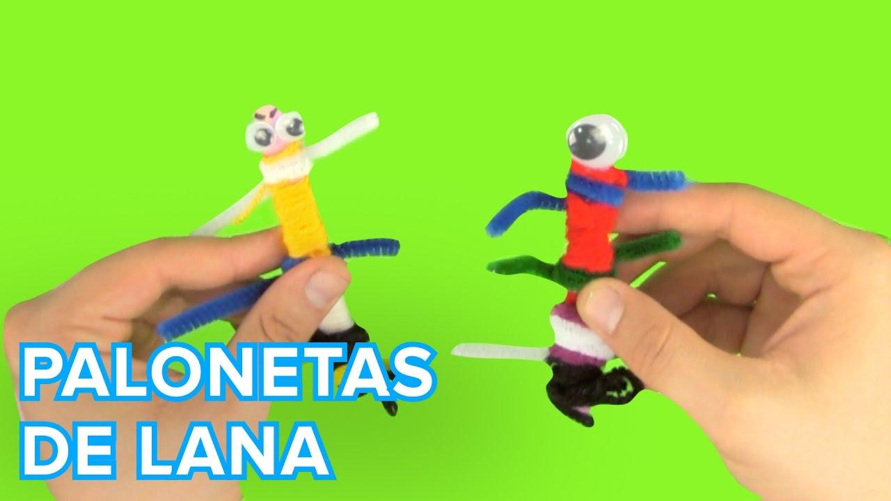 Cómo hacer marionetas con palos y lana con los niños