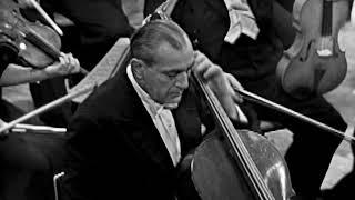 Gregor Piatigorsky, cello - Walton - Cello Concerto (1957 - video - complete)