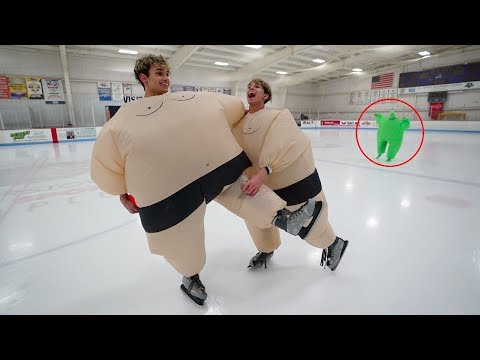 DO NOT ICE SKATE IN SUMO SUITS AT 3AM!