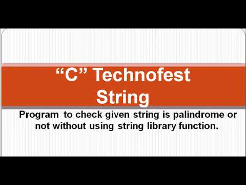 How to check string is palindrome in C without using string library