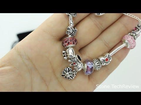 Unboxing Wostu Mode Schmuck Silber Charm Armband Pandora Armkette