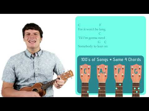 Download Lean On Me - Bill Withers | Easy Ukulele Tutorial & Cover Mp4 HD Video and MP3